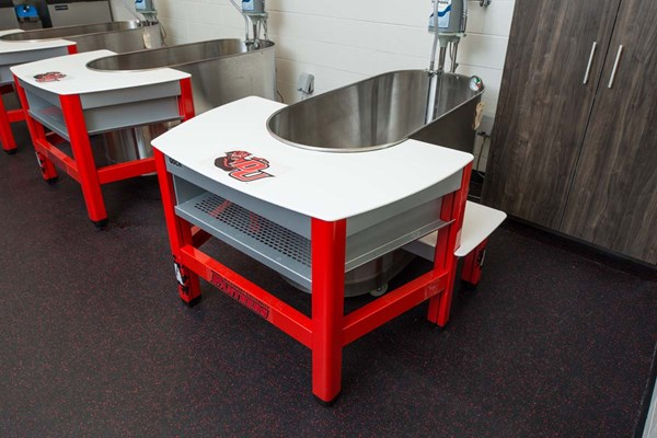 Impact Athletic Dock whirlpool tables at Davenport University