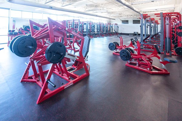 Seated Squat Pro's and 3-Way Rows at Davenport University