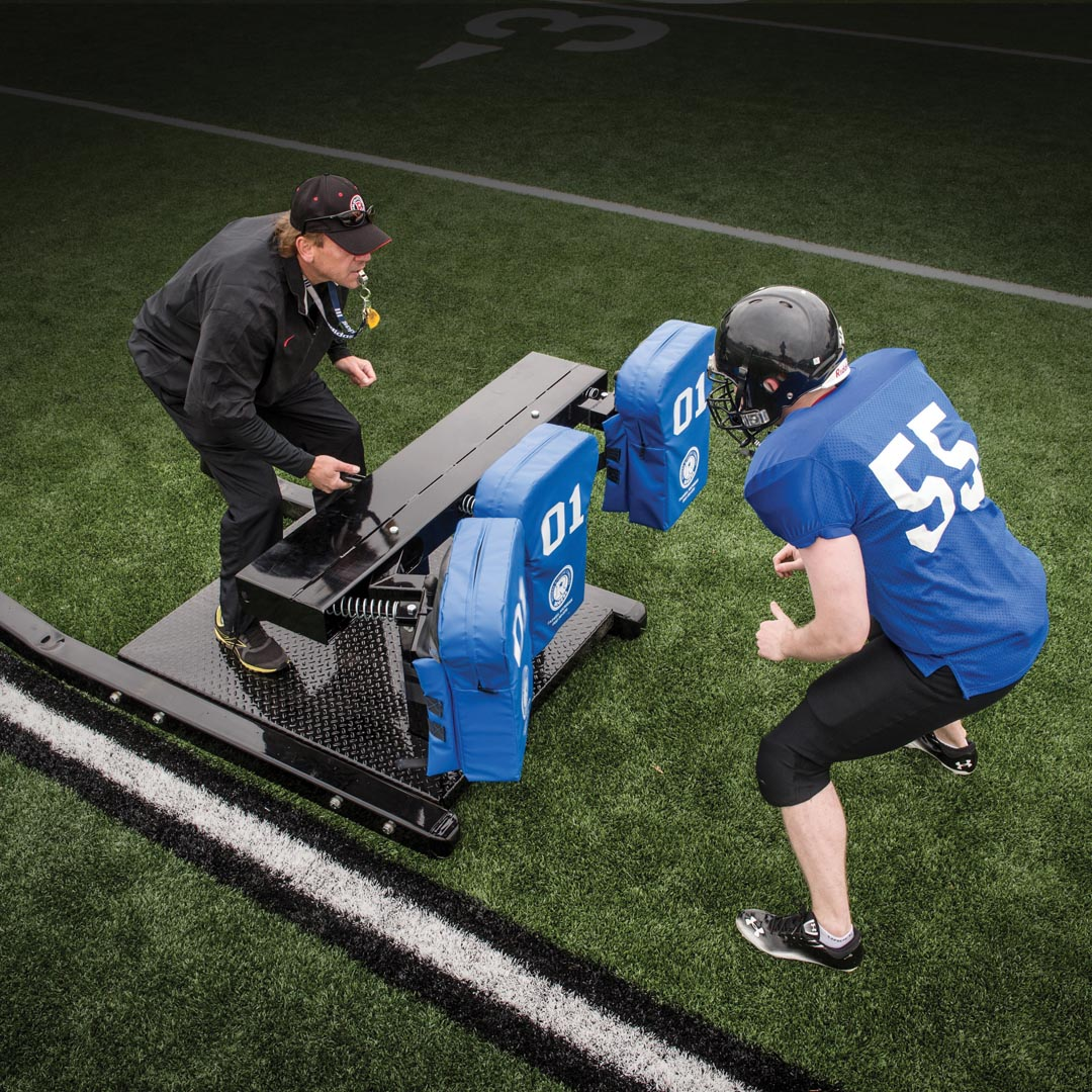 football sled - three read machine