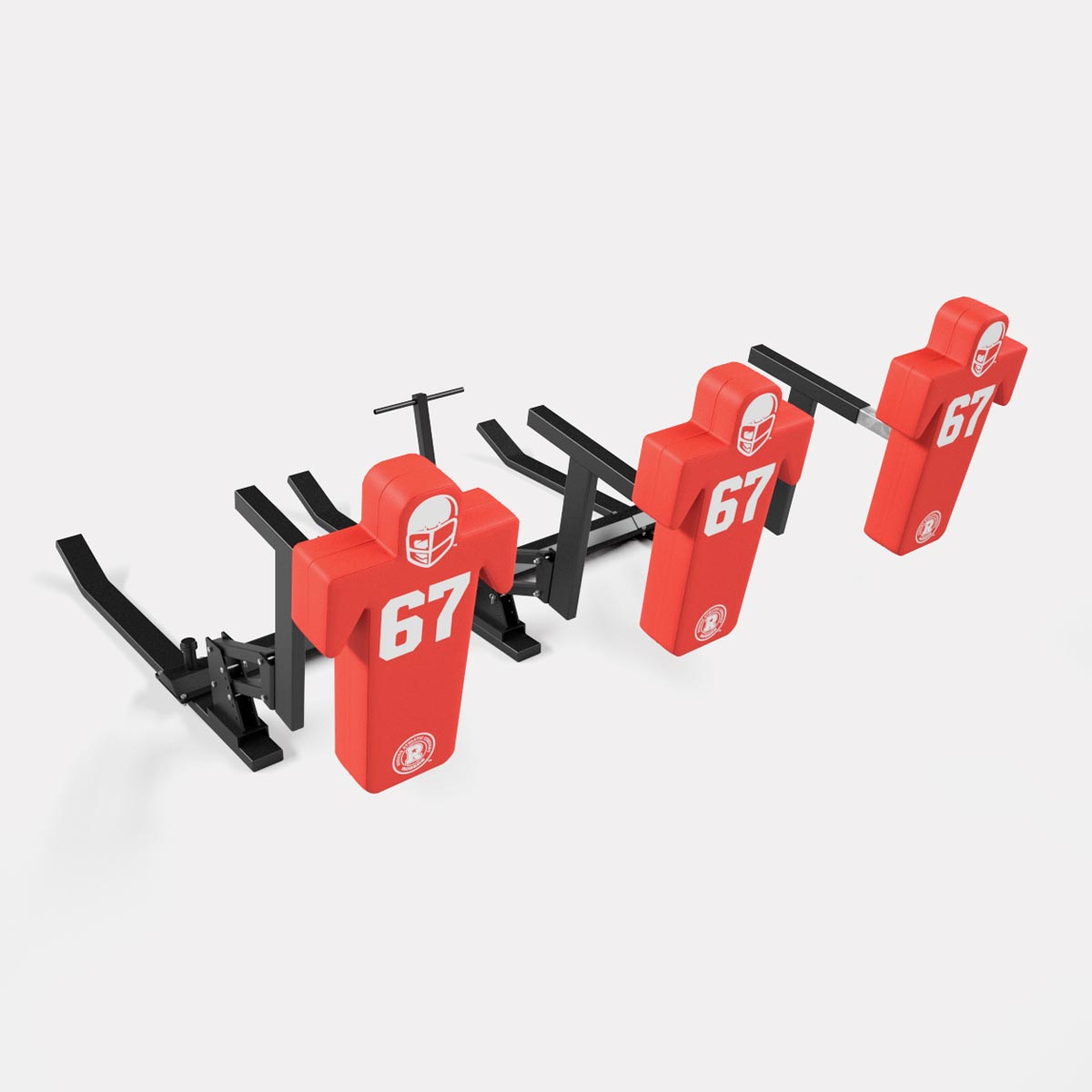 3 man football sled - double action pro