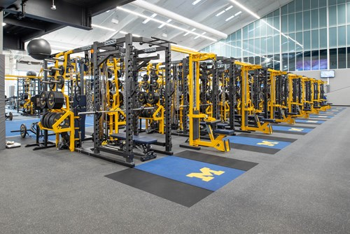Dual Rack XL's at University of Michigan Football Weight Room