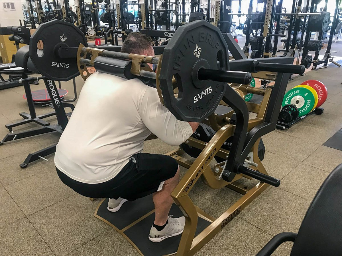 Pendulum Power Squat Pro XT at the New Orleans Saints strength training facility